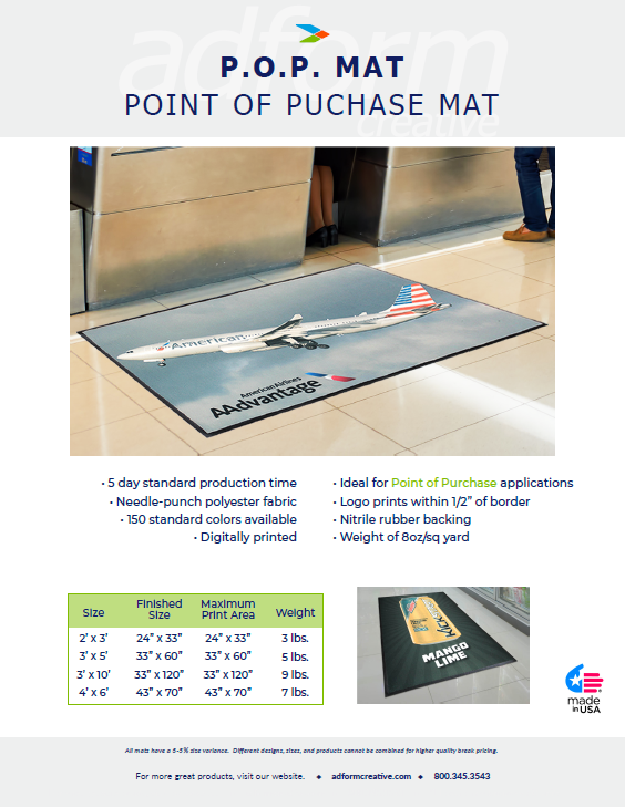 Point Of Purchase Mats