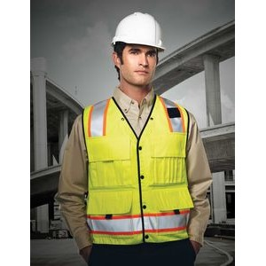 Tri-Mountain® Safety Workwear Level Windproof/ Water Resistant Vest