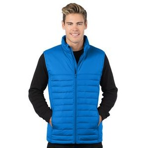 Tri-Mountain Men's Quilted Puffer Vest